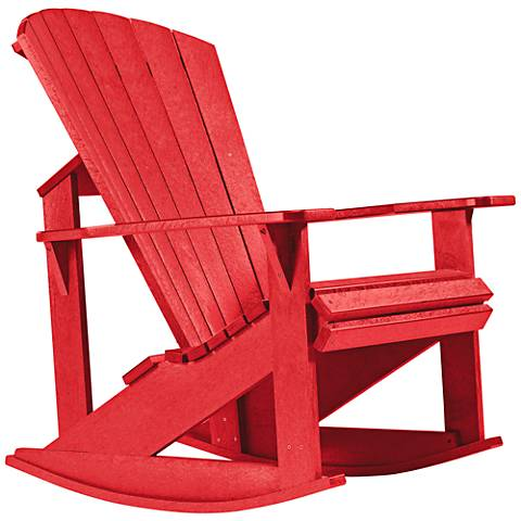 Generations Red Outdoor Adirondack Rocking Chair