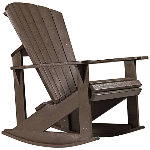 Generations Chocolate Outdoor Adirondack Rocking Chair