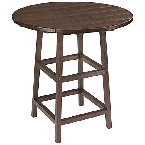 Generations Chocolate Round Outdoor Pub Table