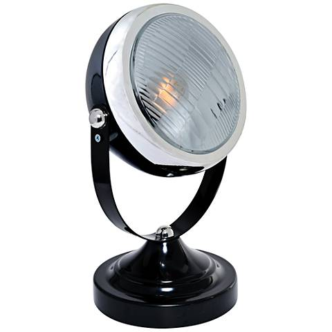 Lite Source Headlite Black Metal Spotlight Desk Lamp