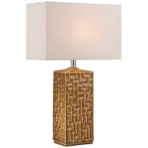 Lite Source Monico Mustard Yellow Ceramic Table Lamp
