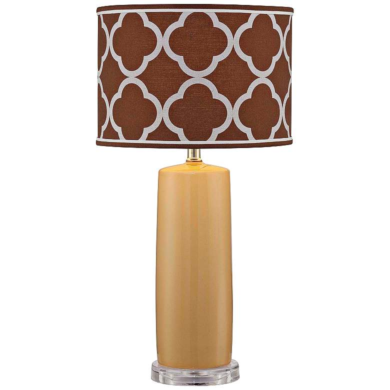 Lite Source Monisha Mustard Yellow Ceramic Table Lamp