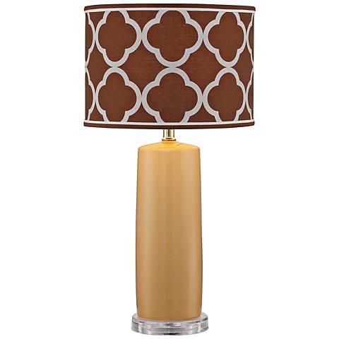 Lite Source Monisha Mustard Yellow Ceramic Table Lamp