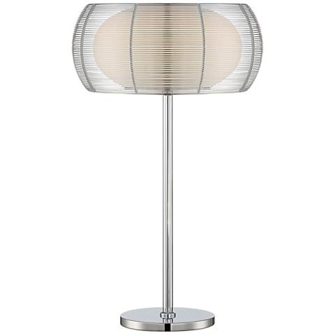 Lite Source Lanelle Chrome Metal Table Lamp