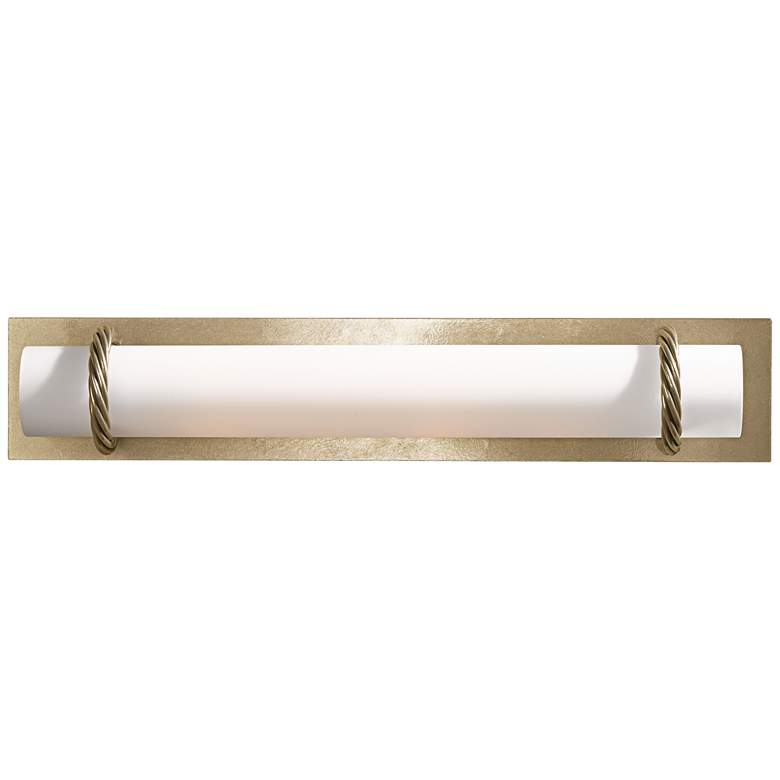 "Hubbardton Forge Cavo Gold 24""W Opal Glass Bath"