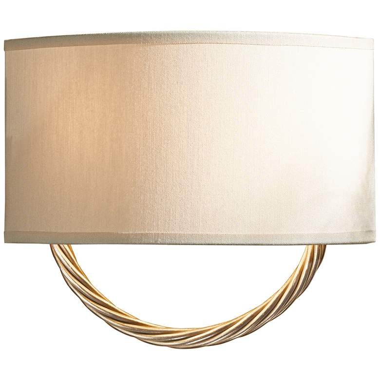 "Hubbardton Forge Cavo Gold 8 3/4""H Flax Shade"