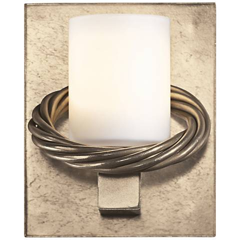 "Hubbardton Forge Cavo Opal 5 1/2""H Gold Rope Wall Sconce"