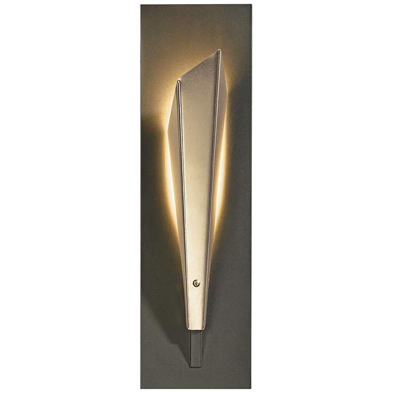 """Hubbardton Forge Quill LED 15 1/2""""H Soft Gold Wall Sconce"""