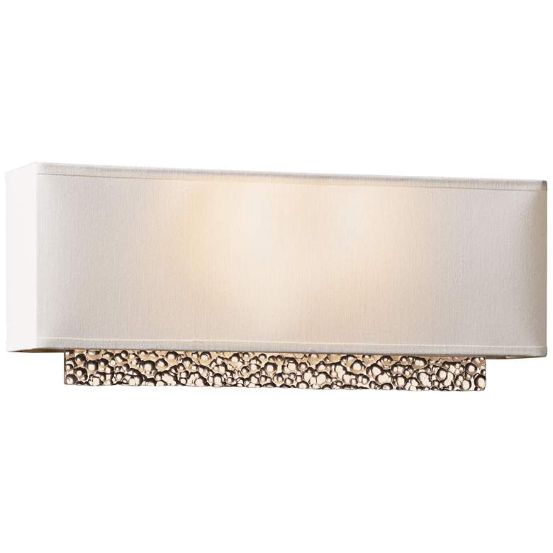"""Hubbardton Forge Oceanus Suede 16 1/2""""W Gold Wall"""
