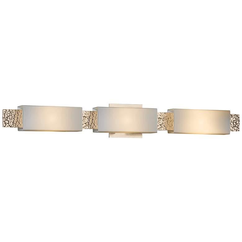 "Hubbardton Forge Oceanus Opal 33 1/2""W Gold Bath Light"