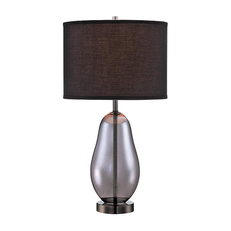 Lite Source Ovadia Smoked Chrome Glass Table Lamp