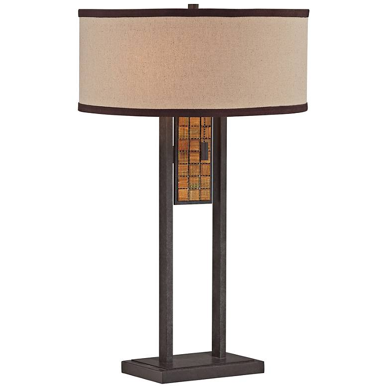 Lite Source Marquetta Aged Bronze Metal Table Lamp