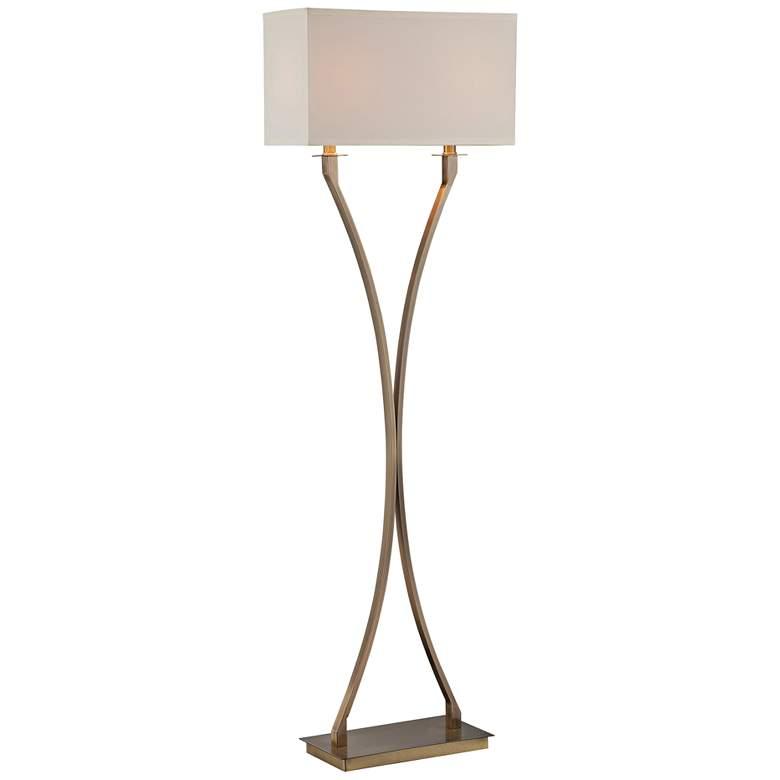 Lite Source Cruzito Antique Brass Floor Lamp