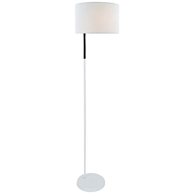 Lite Source Gillian White Metal Floor Lamp