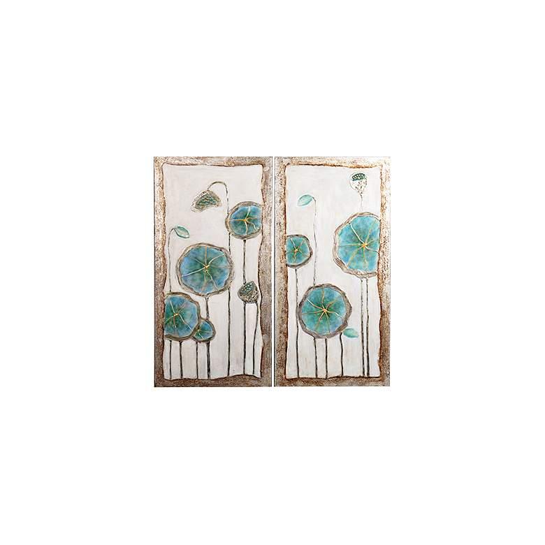 "Blooming Buds 48"" High Canvas Wall Art Set"