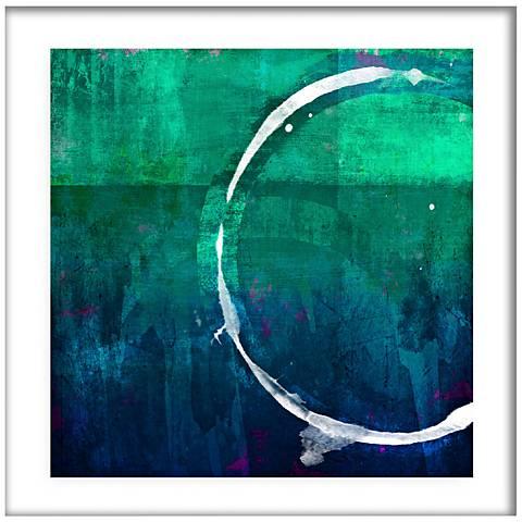 "White Circles II 21 1/2"" Square Framed Giclee Wall Art"