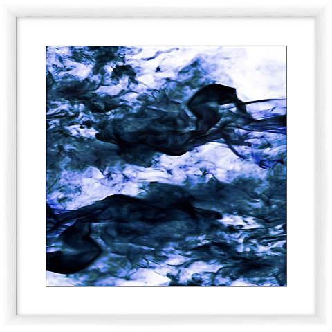 "Navy II 23"" Square Framed Giclee Wall Art"