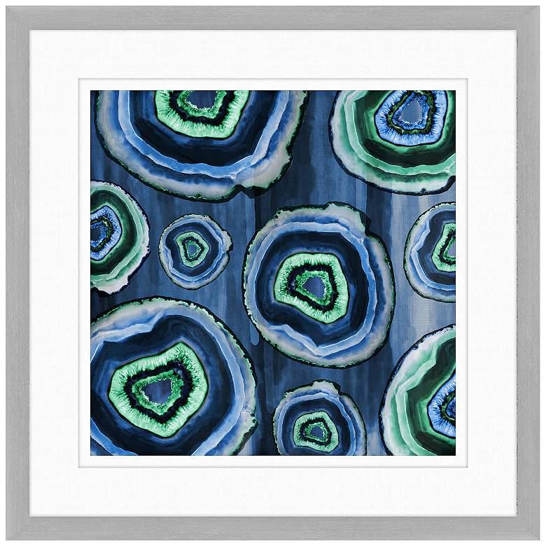 "Geodes I 24"" Square Framed Giclee Wall Art"