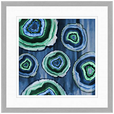 "Geodes II 24"" Square Framed Giclee Wall Art"