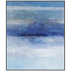 "Into the Blue II 29 3/4"" High Framed Giclee Canvas Wall Art"