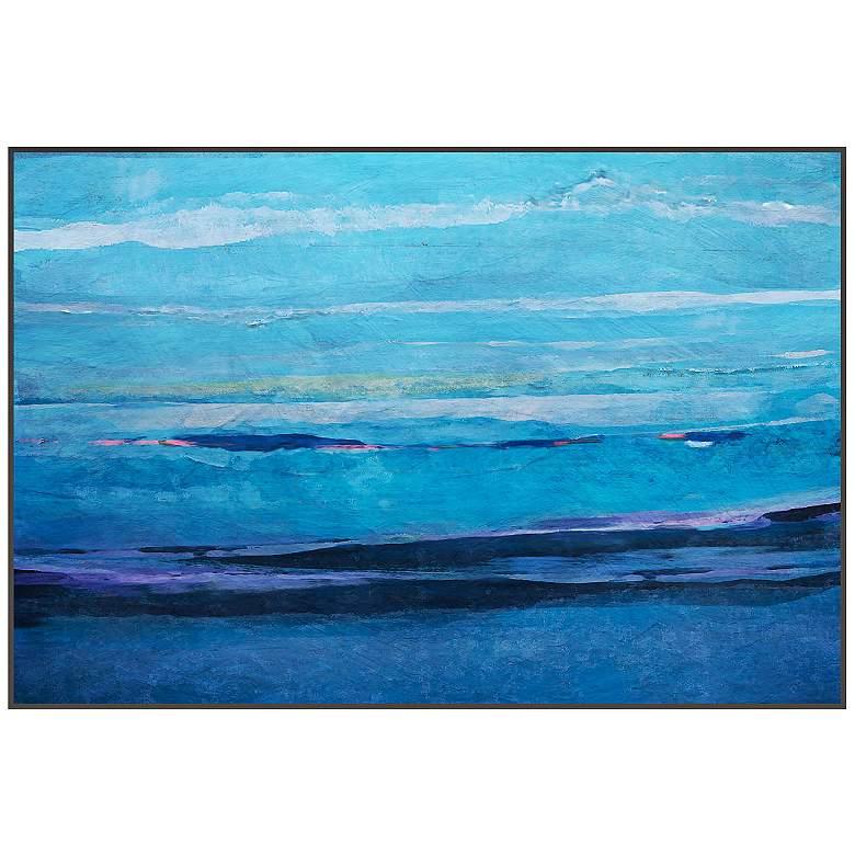 "Ocean I 29 3/4"" Wide Framed Giclee Canvas Wall Art"
