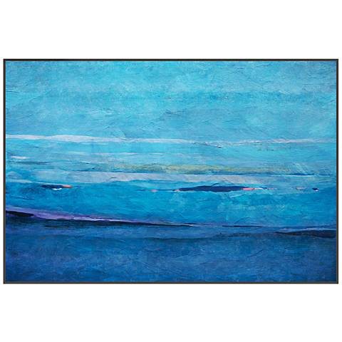"Ocean II 29 3/4"" Wide Framed Giclee Canvas Wall Art"