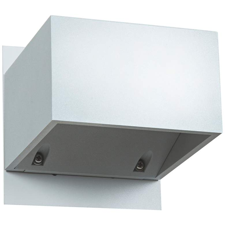 """Square 3"""" High Small White Outdoor LED Wall Light"""
