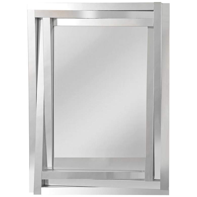 "Tiverio Angled 3-Frame Glass 30"" x 40"" Wall Mirror"