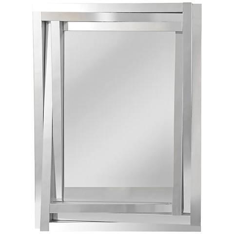 "Tiverio Angled 3-Frame 30"" x 40"" Glass Wall Mirror"
