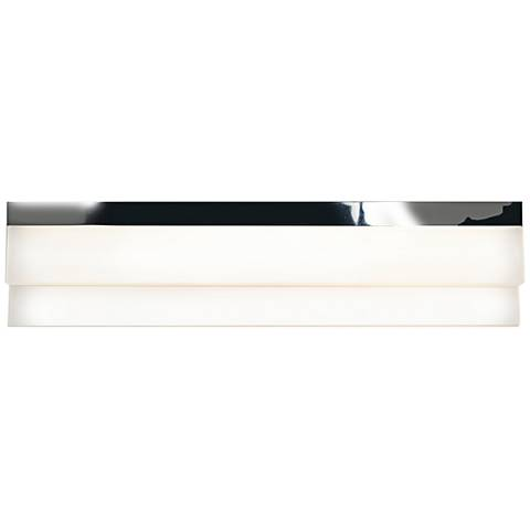 "Linear Chrome 18 1/4""W Small White Acrylic LED Bath Light"