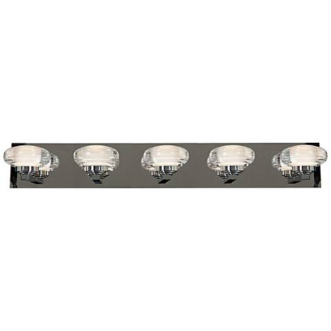 "Optix Acrylic 33"" Wide 5-Light LED Chrome Bath Light"
