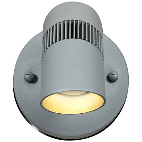"""Fin Spotlight 7 1/2""""H LED Satin Nickel Outdoor Wall Light"""