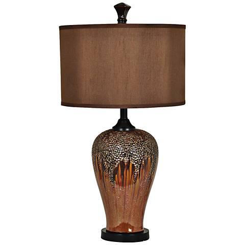 Crestview Collection Hera Metallic Ultra-Gloss Table Lamp