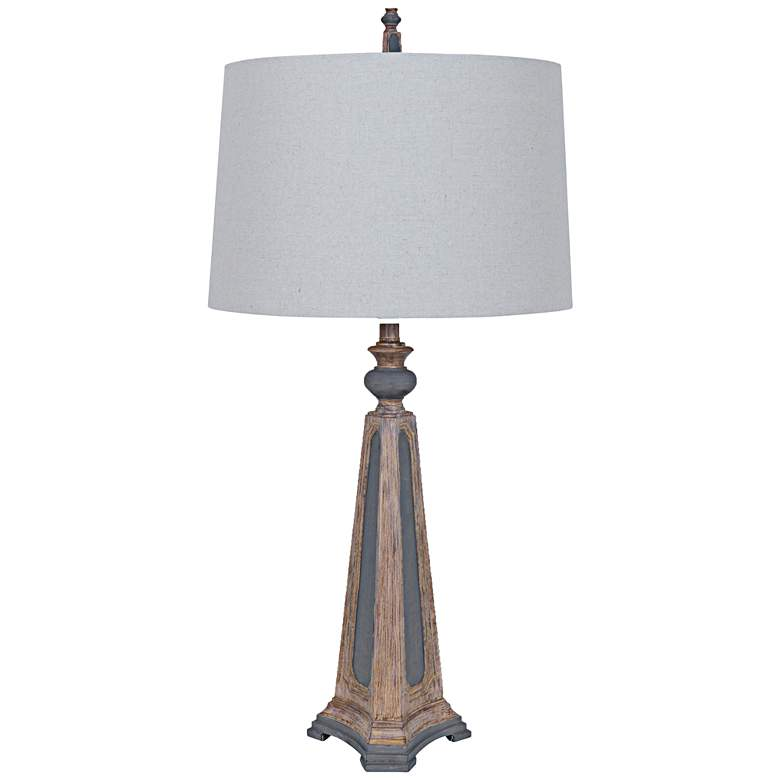 Crestview Augustine Two-Tone Old World Table Lamp