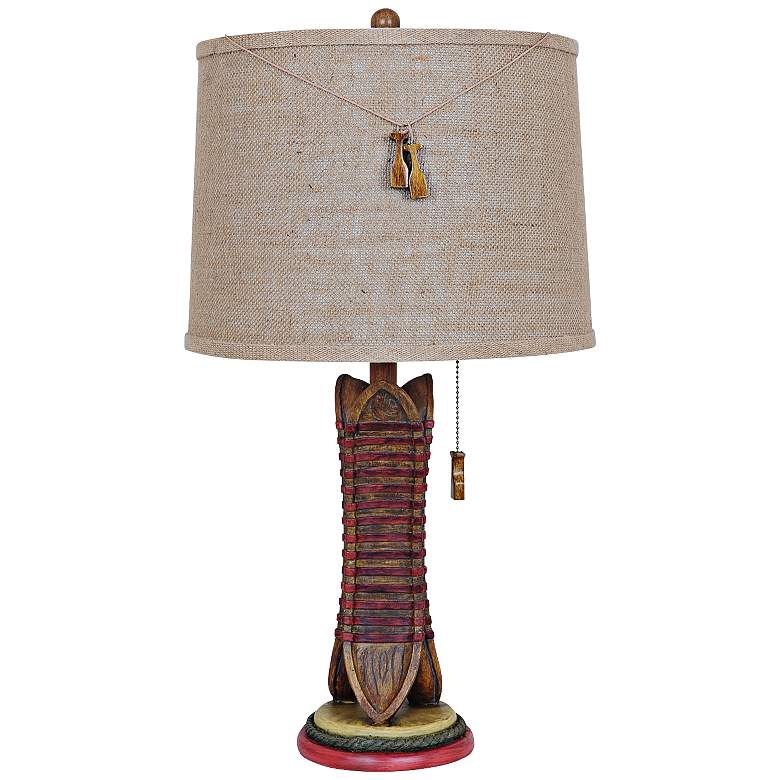 Crestview Collection Rustic Canoe Table Lamp