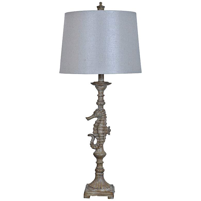 Crestview Collection Seahorse Blond Wood Table Lamp