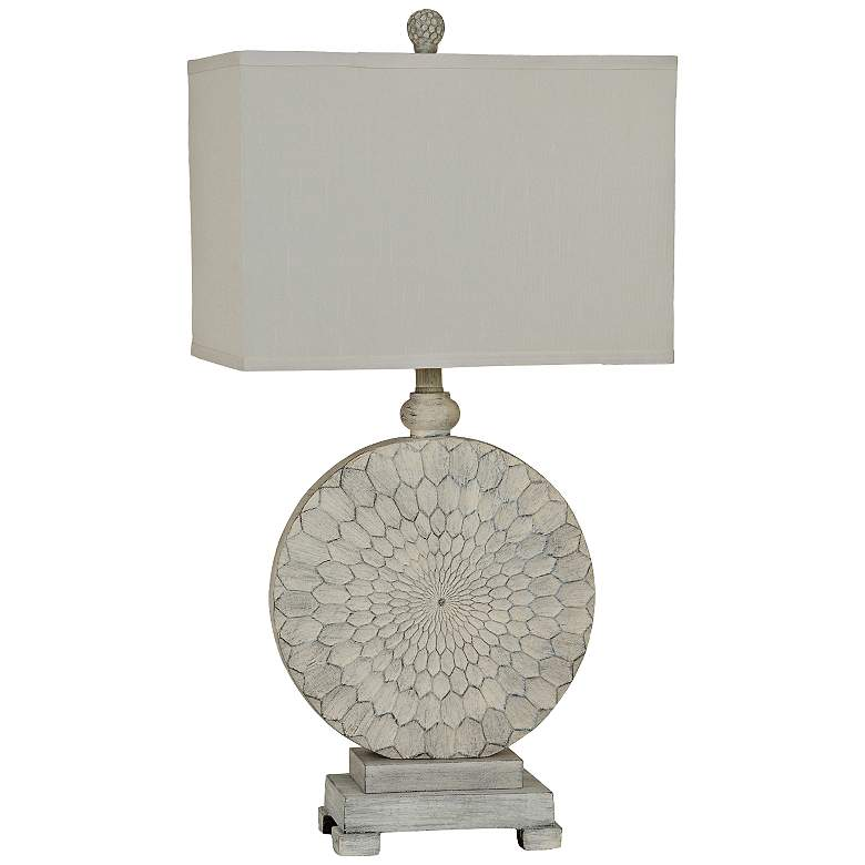 Crestview Collection Sun Dance Cream Cake Table Lamp