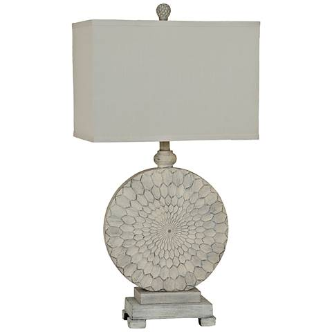 Crestview Collection Sun Dance Cream Cake Table Lamp