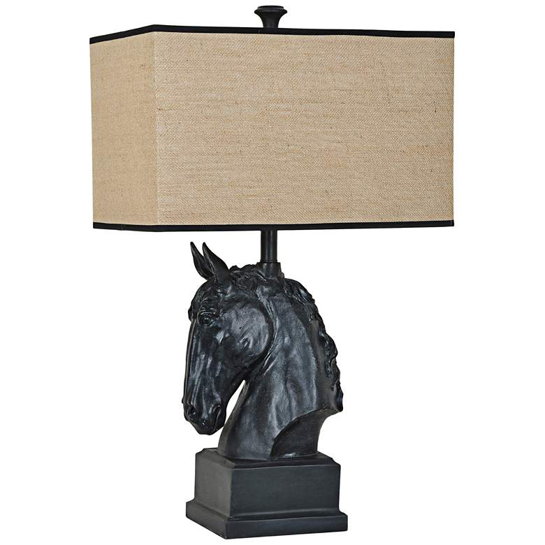Crestview Collection Stallion Black Iron Table Lamp
