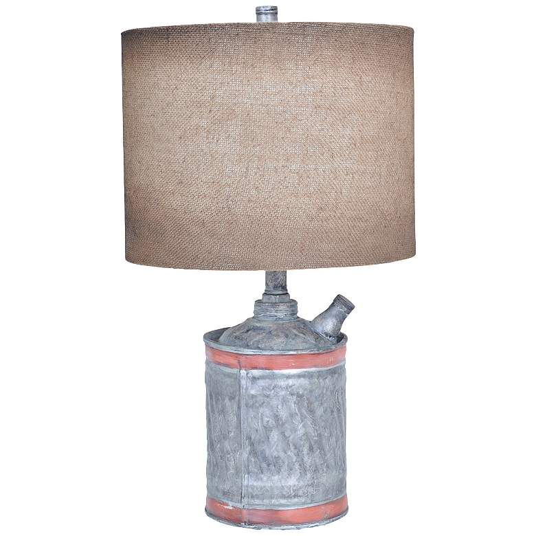 Crestview Collection Filler Up Antique Can Table Lamp