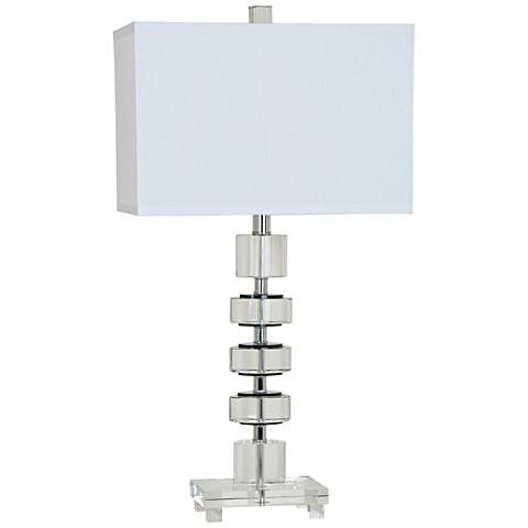 Crestview Collection Olivia Clear Crystal Table Lamp