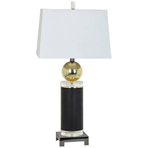 Crestview Collection Empire Crystal and Metal Table Lamp