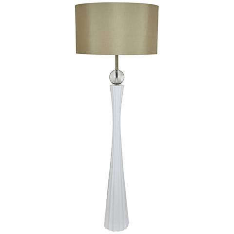 Harley White Floor Lamp With Crystal Font