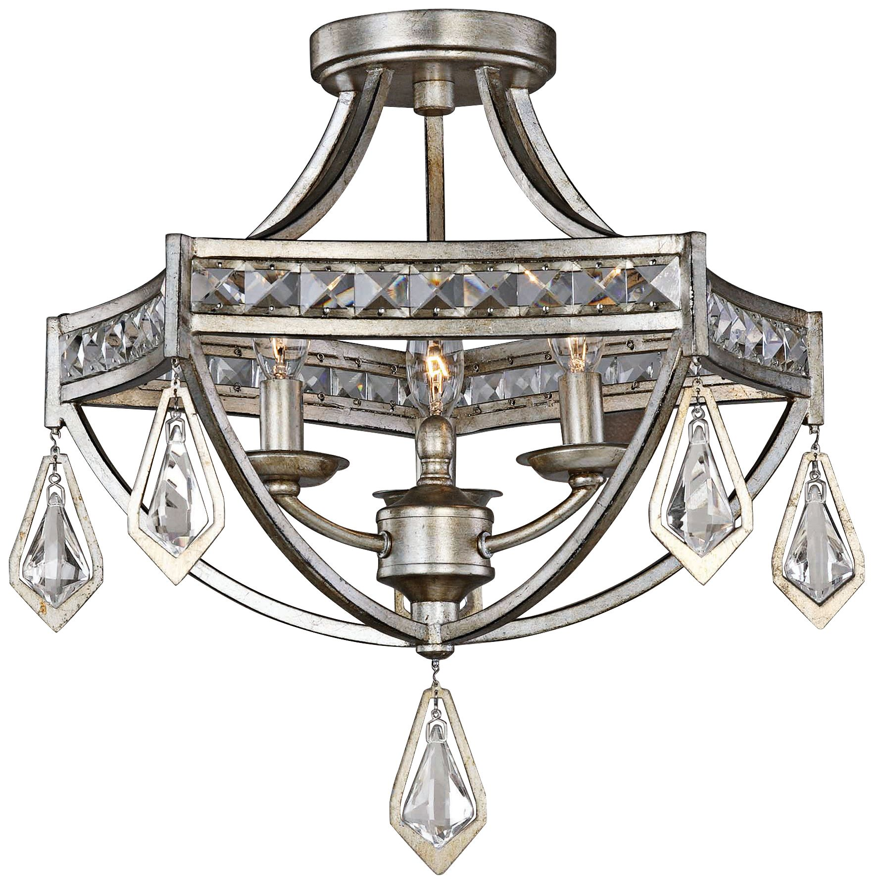 uttermost tamworth 19   wide champagne leaf ceiling light uttermost semi flush mount close to ceiling lights   lamps plus  rh   lampsplus