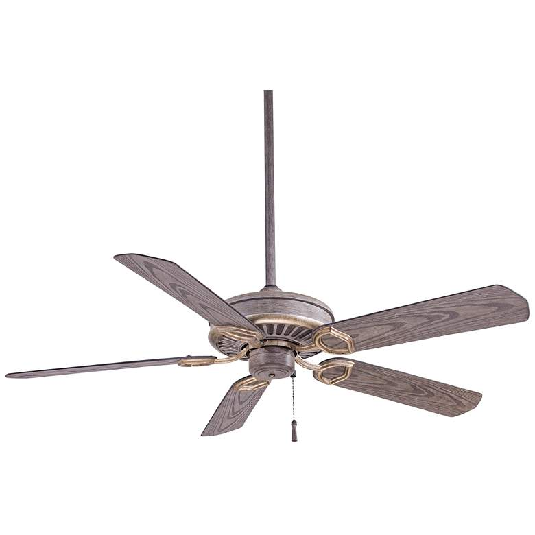 "54"" Minka Aire Sundowner Driftwood Outdoor Ceiling Fan"