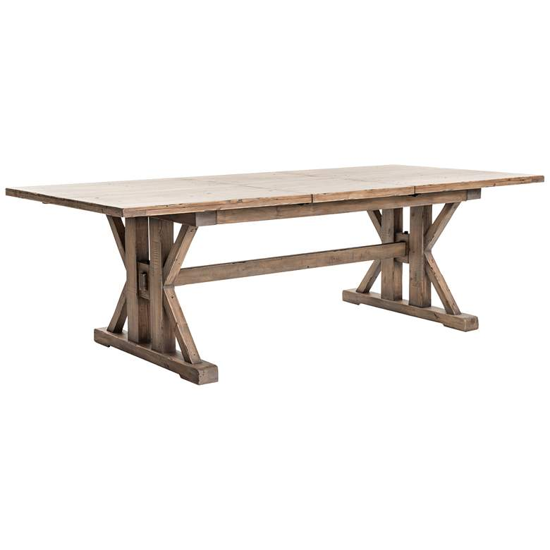 Tuscan Spring Extendable Sundried Wheat Pine Dining Table