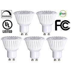 Track light bulbs i lamps plus 40 watt equivalent bioluz 65 watt led gu10 mr16 5 pack aloadofball Image collections