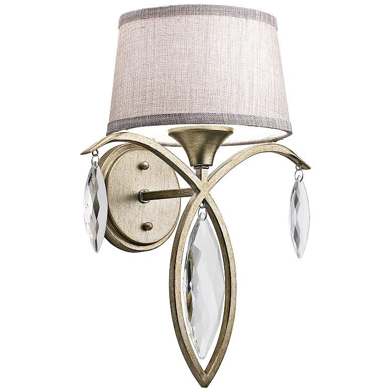 "Kichler Casilda 16"" High Satin Crystal Gold Wall Sconce"