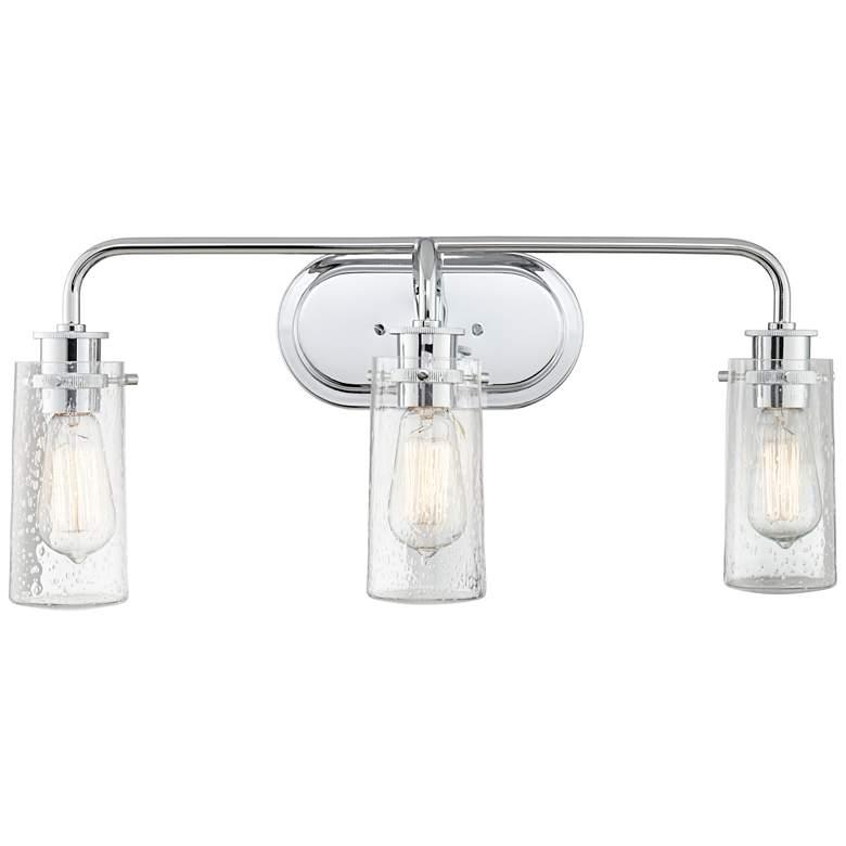 """Kichler Braelyn 24"""" Wide Chrome 3-Light Bath Light"""