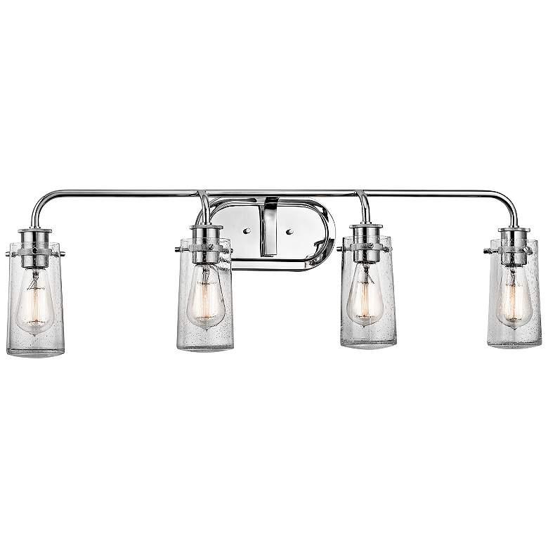"""Kichler Braelyn 4-Light 34 1/4""""W Seedy Glass Bath Light"""